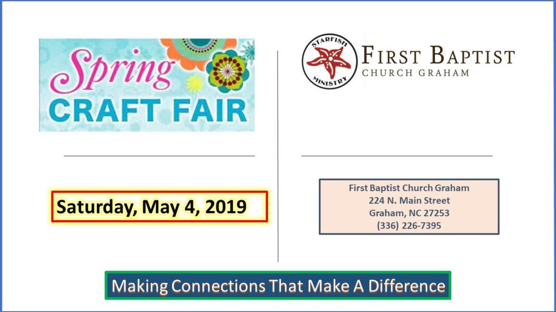 Craft Fair – May 4, 2019