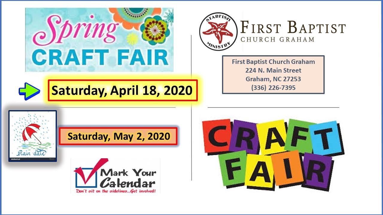 Spring Craft Fair – 2020