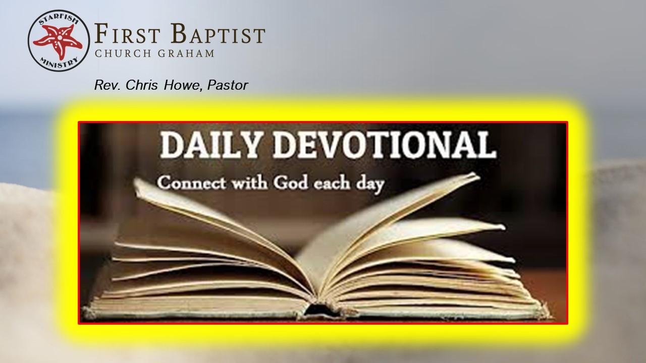 Daily Devotional (6-30-20)
