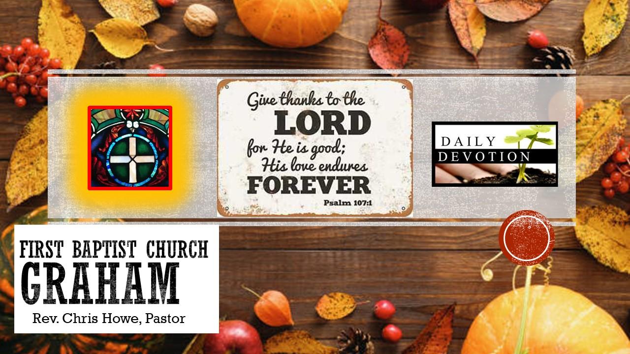 Daily Devotional (11-26-20)
