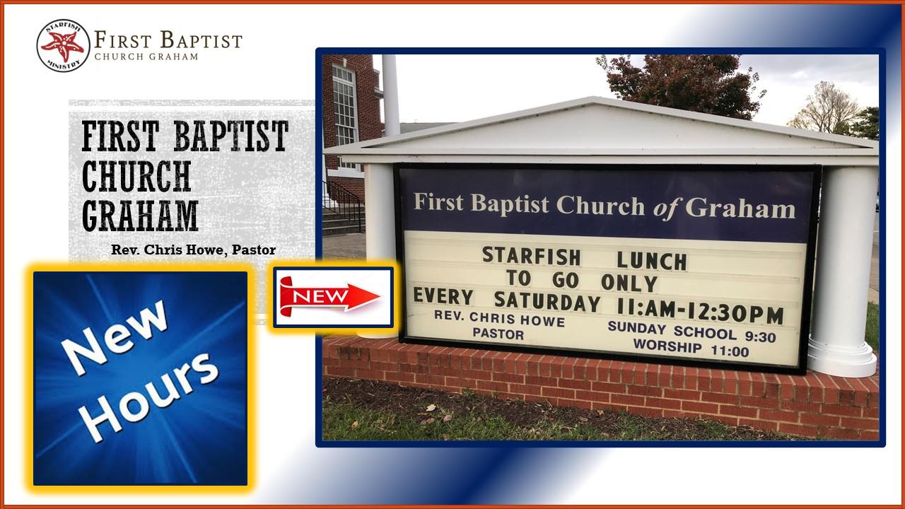 Starfish – New Serving Hours